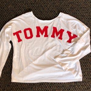 Tommy Hilfiger white long sleeve with logo back